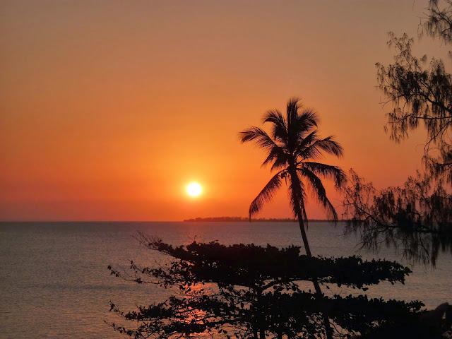 Sunset from the Africa House, Zanzibar. From Through the eyes of an educator: Zanzibar, Tanzania