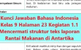 Jawaban buku bahasa indonesia kelas 9 semester 1 k13 halaman 26 27 brainly co id kunci jawaban buku tematik kelas 4 tema 2 subtema 1 halaman 11 12. Kunci Jawaban Bahasa Indonesia Kelas 9 Halaman 23 Kegiatan 1 1 Ilmu Edukasi