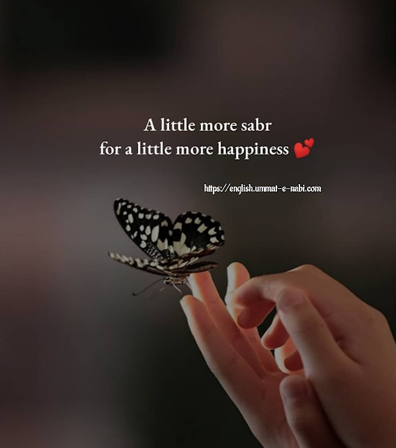 A Little More Sabr for A Little More Happiness