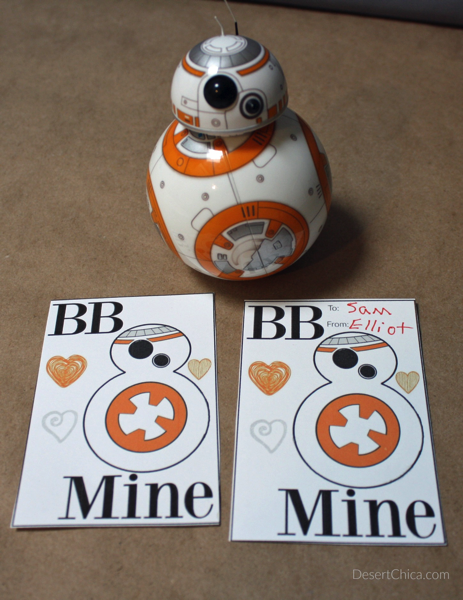 Star Wars BB 8 Valentine