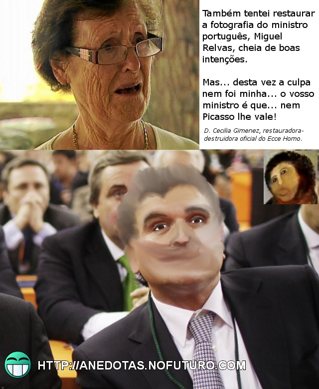 Miguel Relvas Ecce Homo: D. Cecilia Gimenez restaura fotografia do ministro Relvas