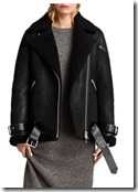 All Saints Oversized Shearling Jacket