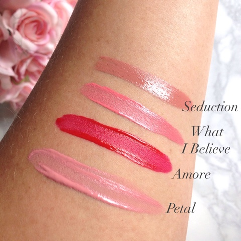 Swatches Seduction, Amore, Petal and What I Believe