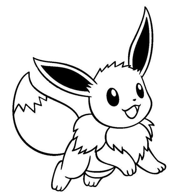 Cute Pokemon Eevee Drawings Sketch Coloring Page