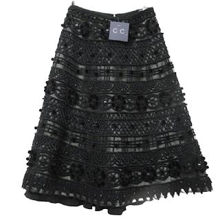 Naeem Khan Beaded Skirt