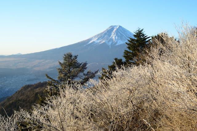 三つ峠 富士山 霧氷