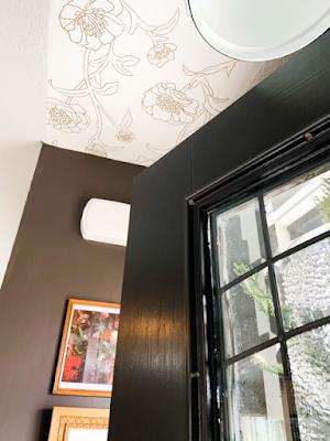 wallpaper on ceiling