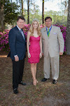 Celebrity Guest William Mangum, 2014 Azalea Queen Kirsten Haglund, President Steve Coble