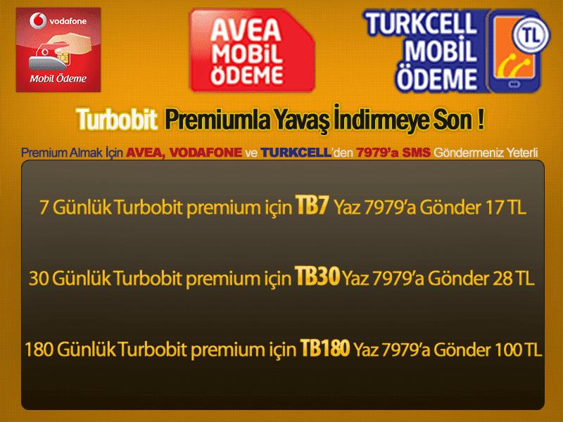 Turbobit Premium Satışı (Mobil Ödeme ve Kredi Kartı)