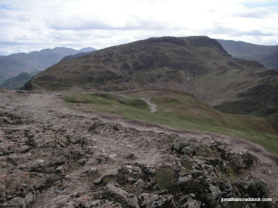 From summit of Catbells, looking back at Maiden Moor