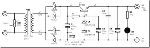 24 volt dc power supply circuit diagram schematic simple schematic What's Inside a Power Supply 24 volt dc power supply circuit diagram schematic
