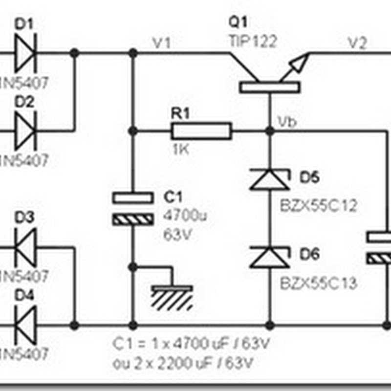 24 Volt Dc Power Supply Circuit Diagram Schematic Simple
