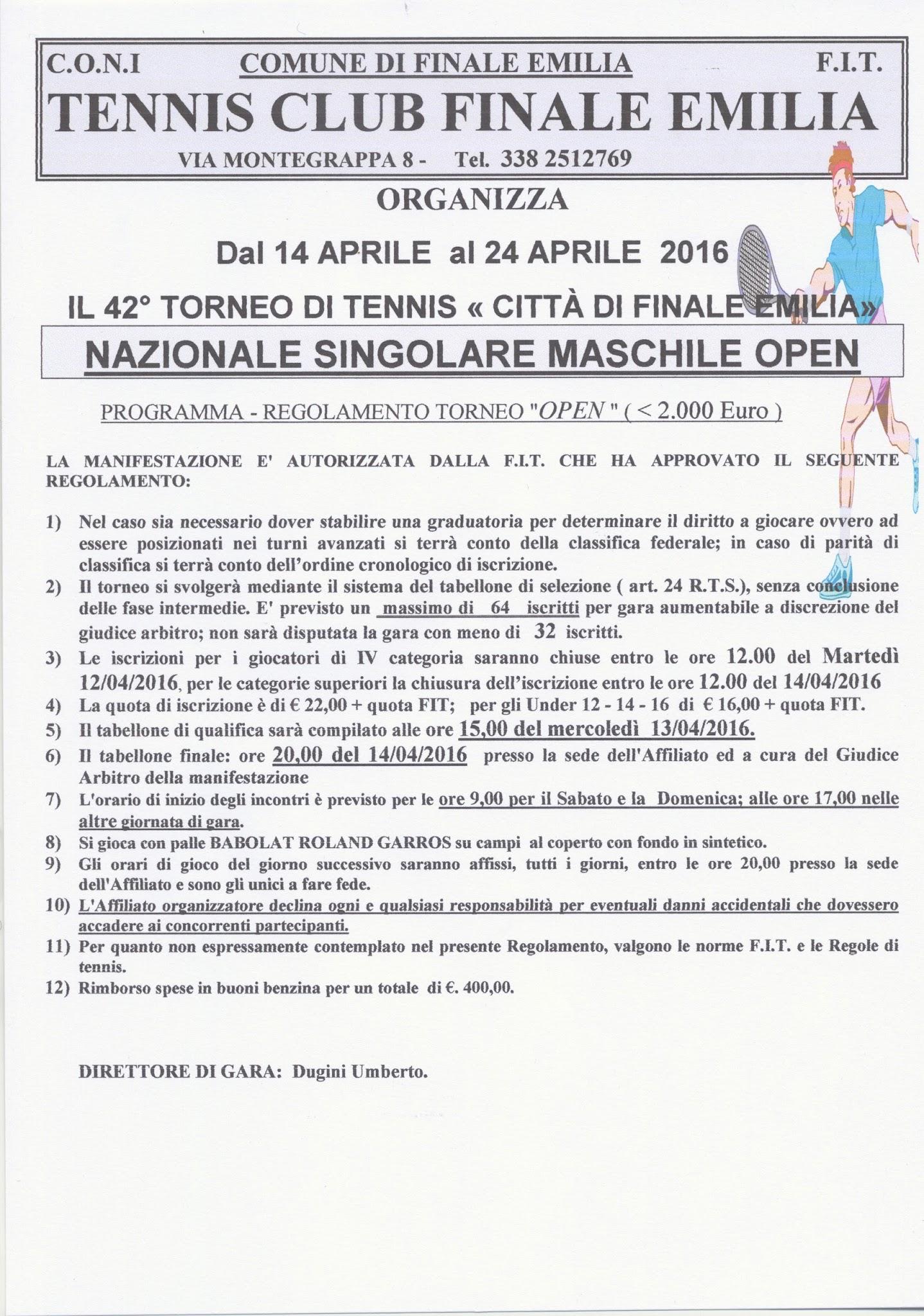 42° Torneo Open