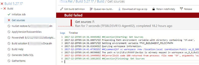 Chaminda's DevOps Journey with MSFT: TFS Build Agent Fail on