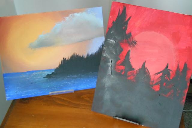Bob Ross Inspired Paintings