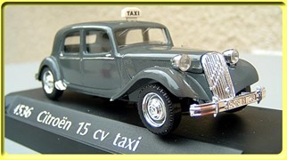 4536 Citroën Traction 15 Six Taxi 1952