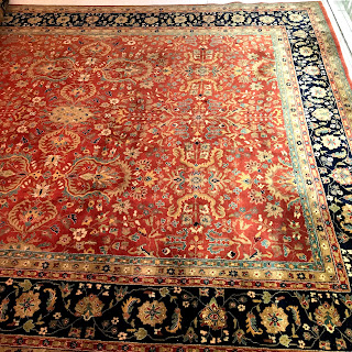 Sarouk-Farahan Wool Pile Area Rug