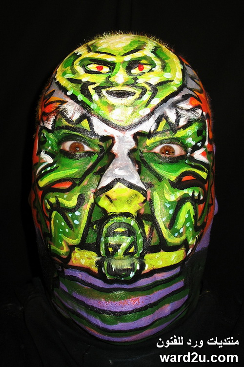 فن الرسم على الوجه ابداع الفنان James Kuhn