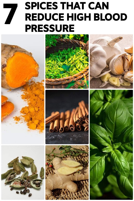 Basil, cardamom, Cinnamon, Garlic, Ginger, Green Tea Can Reduce High Blood Pressure