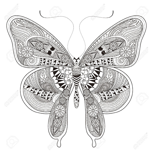 Butterfly Mandala Coloring Pages For Adults