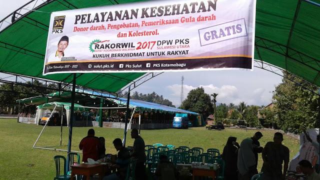 PKS Kotamobagu Berkhidmat Lewat Layanan Kesehatan Gratis