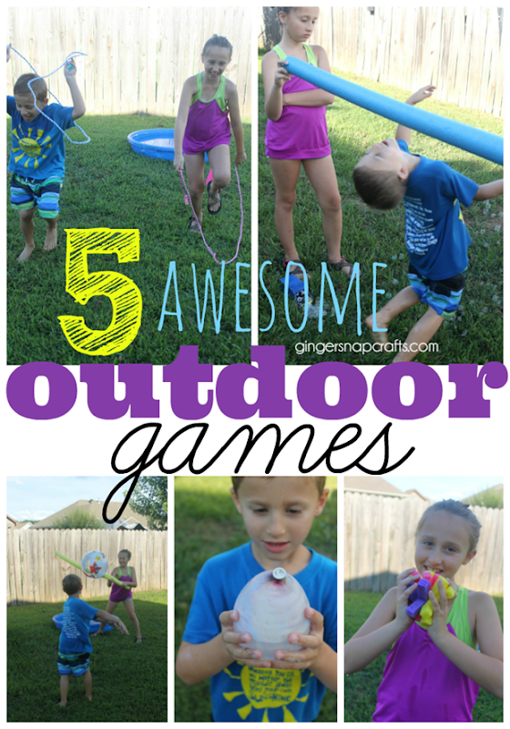 5 Awesome Outdoor Games at GingerSnapCrafts.com #outdoor #games #kids