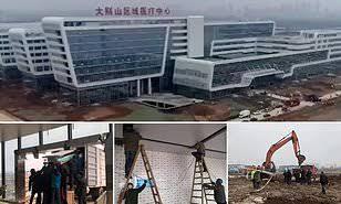 Leishanshan hospital opened. PHOTO | AFP