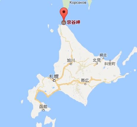 地図:道宗谷岬