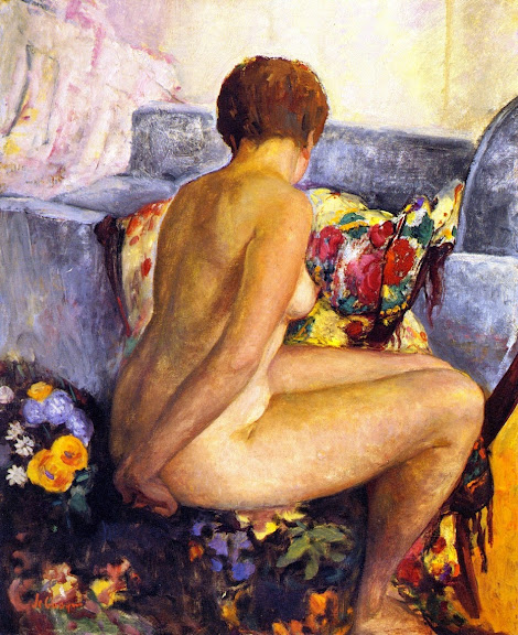 Henri Lebasque - Seated Nude