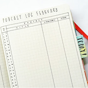 podcast bullet journal
