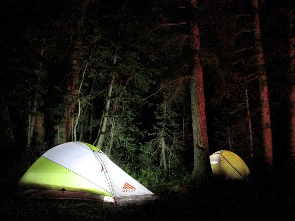 Illuminated tents