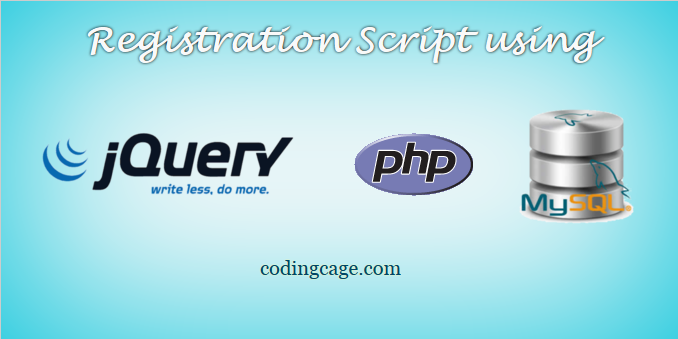 Ajax Registration Script using jQuery with PHP and MySQL