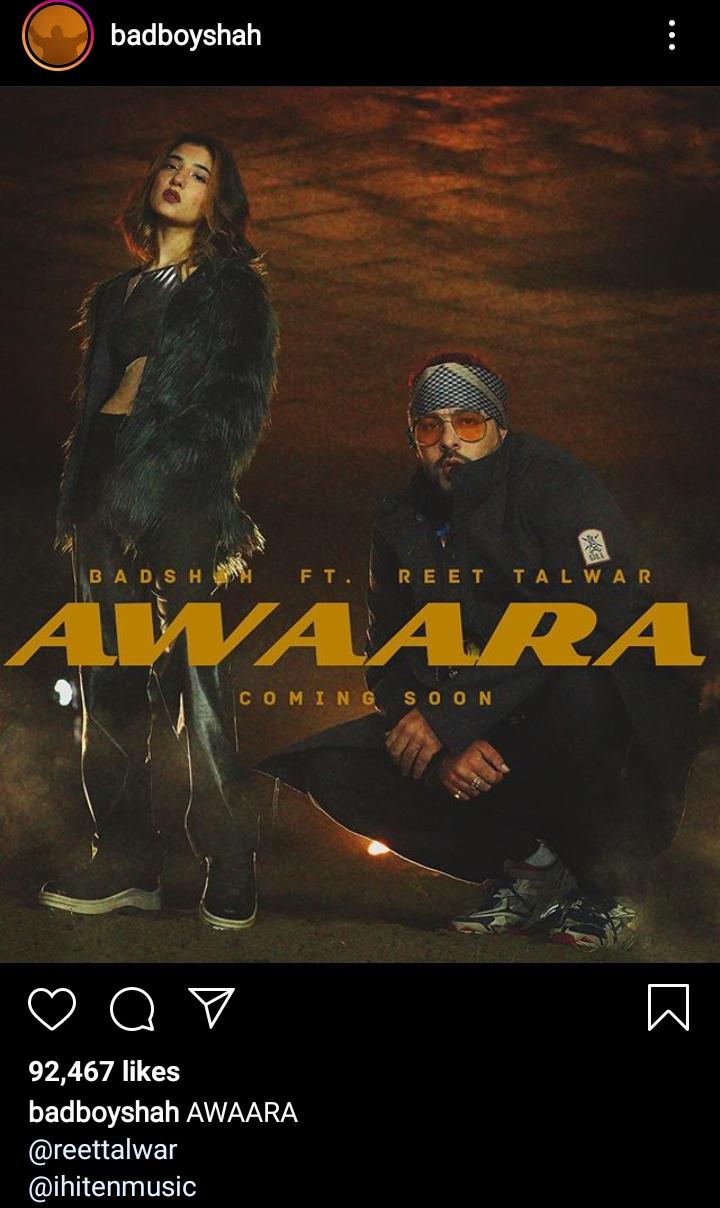"Badshah's Latest Song ""Awaara"""