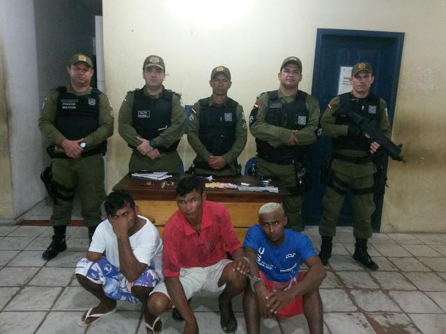 Em Oriximiná PM prende três  jovens por tráfico de drogas
