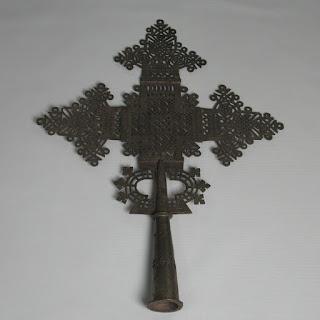 Ethiopian Cross Brass Ornament