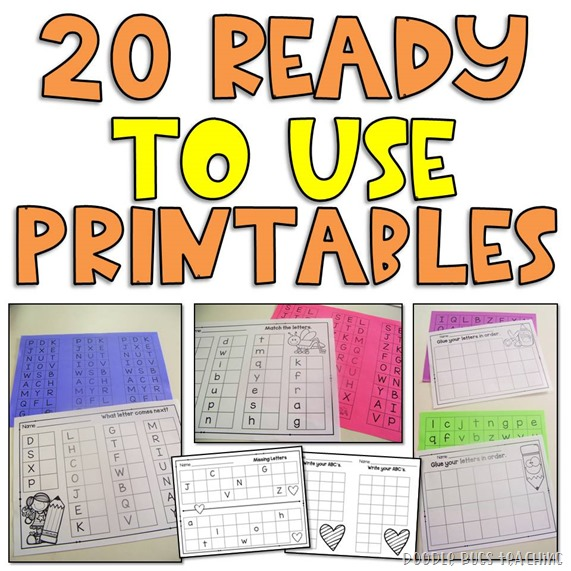 alpabet printables worksheets