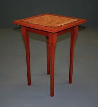 Photo: Side table. Jarrah, Qld Maple, Ebony, Paul Herd.