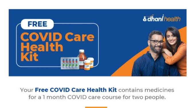 FREE COVID CARE HEALTH KIT WORTH RS 376/- TOTALLY FREE BY DHANI FOR ALL USER