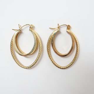 14K Gold Triple Hoop Earrings