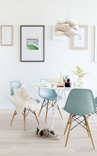 Sala de Jantar azul serenity