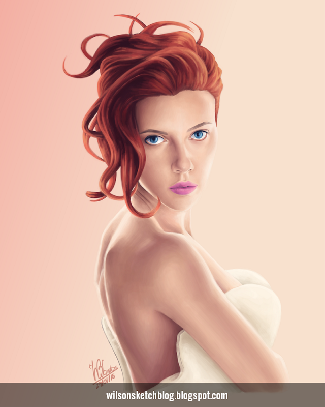 Portrait of Scarlett Johansson.