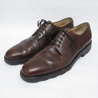 Salvatore Ferrgamo Pebbled Leather Oxfords
