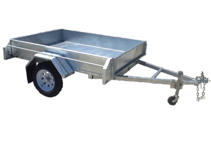 8 x 5 Galvanised Box Trailer Fully Welded Sides Tiltable