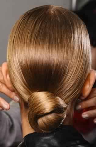 Simple Sleek Low Bun Hairstyle