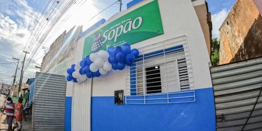 Prefeitura de Cuitegi (PB) entrega a população central do sopão.