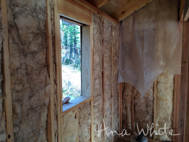 Drywall Moisture Barrier : Wall insulating and vapor barrier for alaska lake cabin