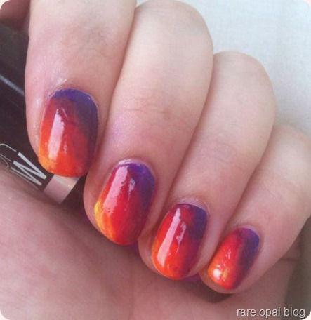 new instagram logo nails, ombre nail design