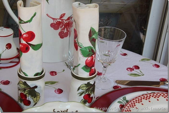 Cherries in a Tablescape