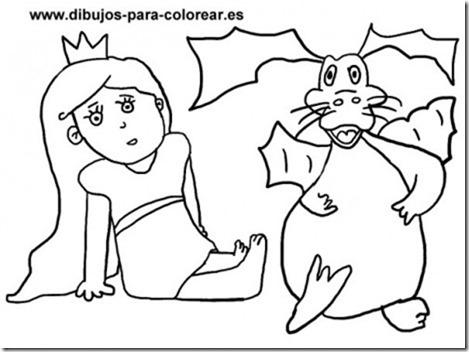 Dibujos-para-colorear-princesa-dragon-465x348