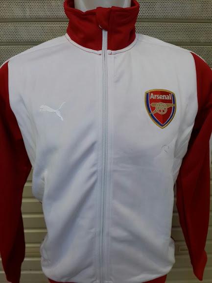 Jual Jaket Arsenal Putih Lengan Merah 2014-2015